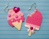 dessert duo earrings