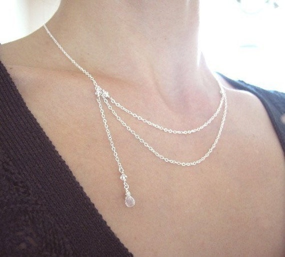 Sterling Silver with Moonstone Necklace