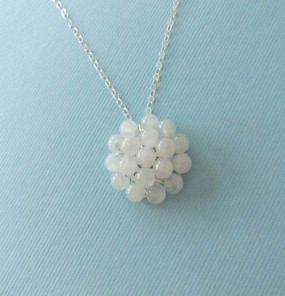 Moonstone Pendant Necklace (Sterling Silver)