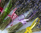 Custom Listing for Renee 10 Garden Wedding Mini Favor English Lavender Bouquets wrapped in hemp twine