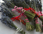 10 Valentine Lavender Favor Bouquets