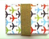 Great New Year's Gift- PASSPORT COVER- handmade with felt and velcro closure- stylish AND secure