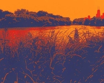 North Pond--archival print 7x10in, 11x14in matted