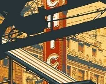 State and Lake--archival print with 11x14 mat