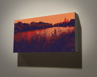 North Pond--12x6 archival print mounted on a precision crafted wood panel