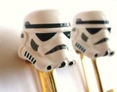Star Wars Storm Trooper Helmet LEGO Gold Cufflinks