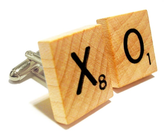 Custom Silver-Plated Scrabble Cufflinks (ANY Letters Available)