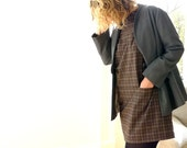 reserved - brown plaid tunic dress