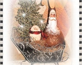 pRiMiTiVe GoUrD FaThER ChRiStMaS wiTh FrIenD in sLeiGh