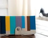 BiFold Clutch Wallet - Modern Handmade Wallet / Desert Mirage -- PREORDER