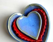 Valentine Hearth Nesting Set - Red in Blue