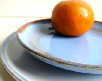 Handmade Stoneware Dinnerware - 1 dinner plate 1 dessert plate