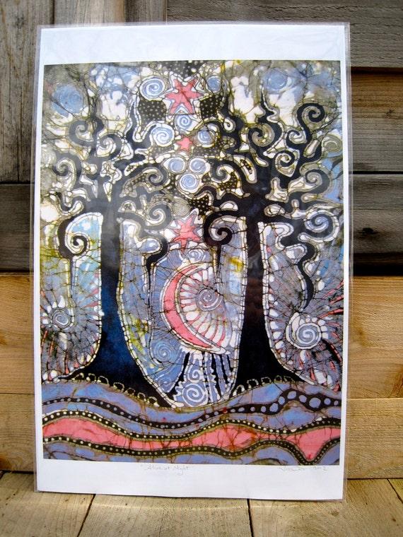 Urban Affair -  11x17 Batik Art Print