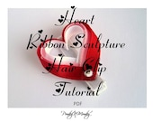 Floating Heart Ribbon Sculpture Hair Clip Instructions Tutorial Valentine's Day Instant Download