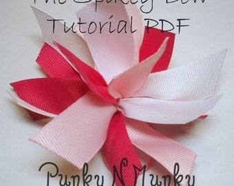 Spikey Bow Tutorial Instruction Ebook INSTANT DOWNLOAD