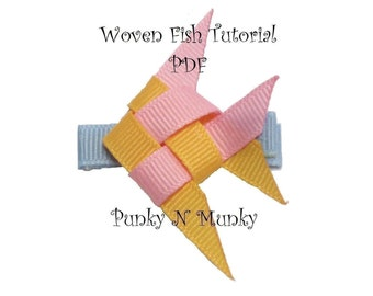 Woven Ribbon Fish Tutorial PDF Instruction INSTANT DOWNLOAD