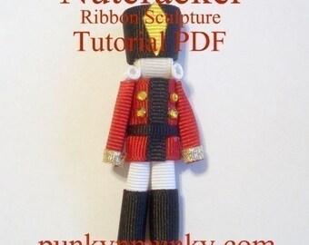 Nutcracker Ribbon Sculpture Tutorial PDF EBook INSTANT DOWNLOAD