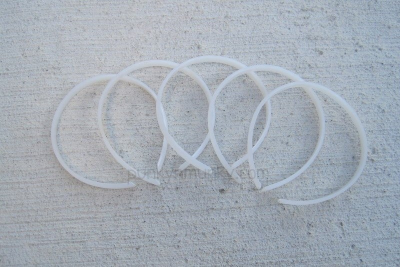 Plastic Doll Headband Blanks 1 4 Inch Width Set Of By