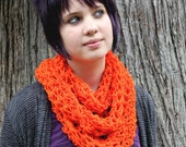 SALE The Skinny Cowl vegan neck scarf tangerine orange