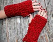 fingerless gloves hand warmers red ridding hood brown