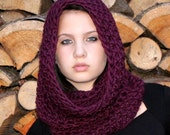 The Light House Keeper cowl Mens womens nautical winter scarf wool radiant orchid plum purple