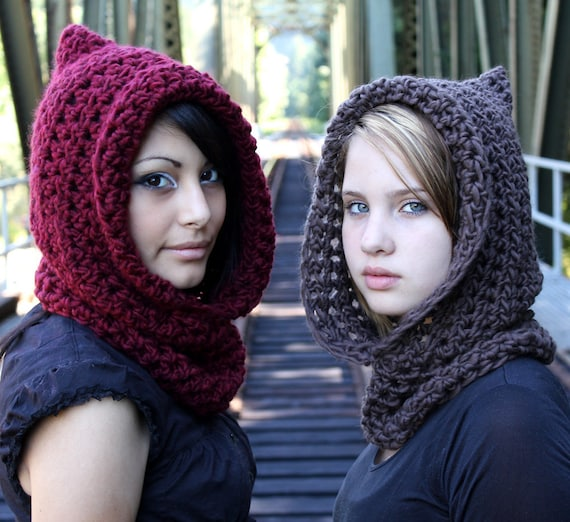 The Fishermans Hood cowl Womens winter scarf mens womens