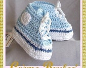 BABY BOYS -Creme Brulee -Cute as a Button - High top Tennie Booties 0-4 mos Size 1. Baby Booties