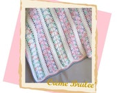 JUST REDUCED-Clearance Sale - One of a Kind -Plush and Soft -Large Soft Cotton Baby Blanket