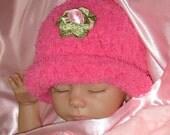 Soft and Warm Baby Hat - Ultra cozy fleece yarn - 5 infant sizes