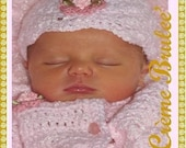 Creme Brulee NEWBORN Girl Hat - Now Available in 7 Colors