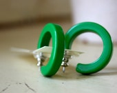Prime Green Hoops - lucite hoop earrings