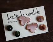 Treehouse Mix Earring Set - Lucite Post Earrings - Color Story Dotties and Posties