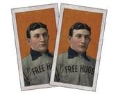 Free Hugs Honus Wagner Small Vinyl Stickers x 2