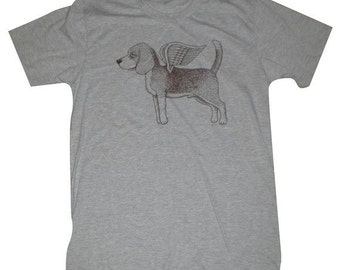 Flying Beagle Mens T-Shirt S, M, L, XL in 9 Colors