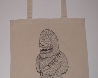 Chewy Calavera Canvas Shopping Tote Bag