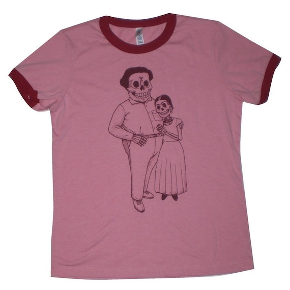 SPECIAL-Frida and Diego Womens Ringer T-Shirt SMALL