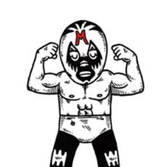 El Mil Mascaras Limited Edition Gocco Screenprint