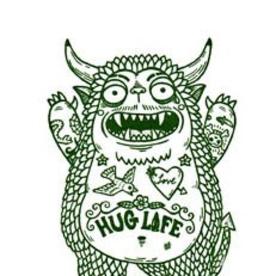 Hug Monster Gocco Serigraph Artist Proof