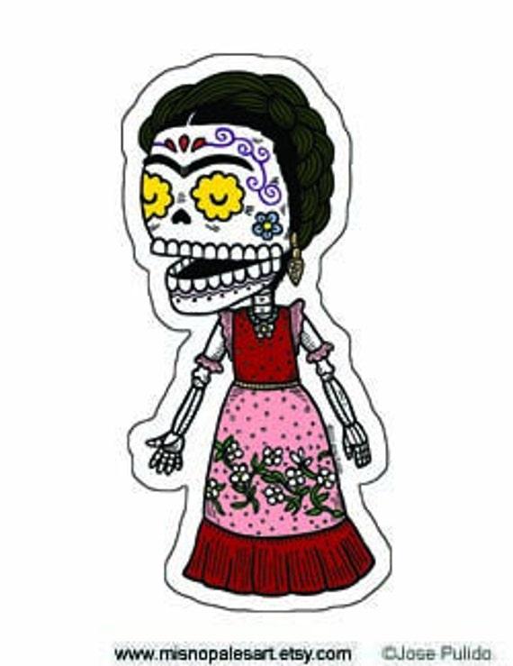 Frida Kahlo Calavera Die Cut Vinyl Sticker