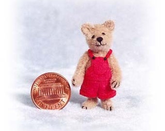 Buster Bear Miniature Teddy Bear Kit - Pattern - by Emily Farmer