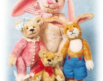 44% OFF - The Sweet Ones - Miniature Teddy Bear & Bunny Kits - Patterns - by Emily Farmer