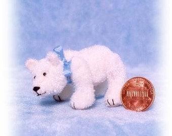 Polar Bear - Miniature Teddy Bear Kit - Pattern - by Emily Farmer