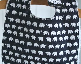 Elephant parade...navy...bib