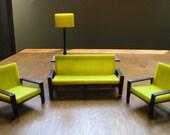 Dollhouse Livingroom Midcentury Modern