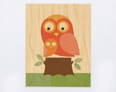UNFRAMED 8x10 Owl with Baby