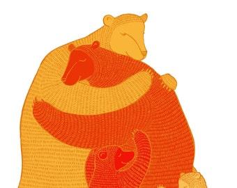 Bear Hug - orange