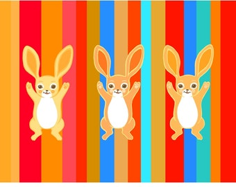 Three Bold Bunnies - large