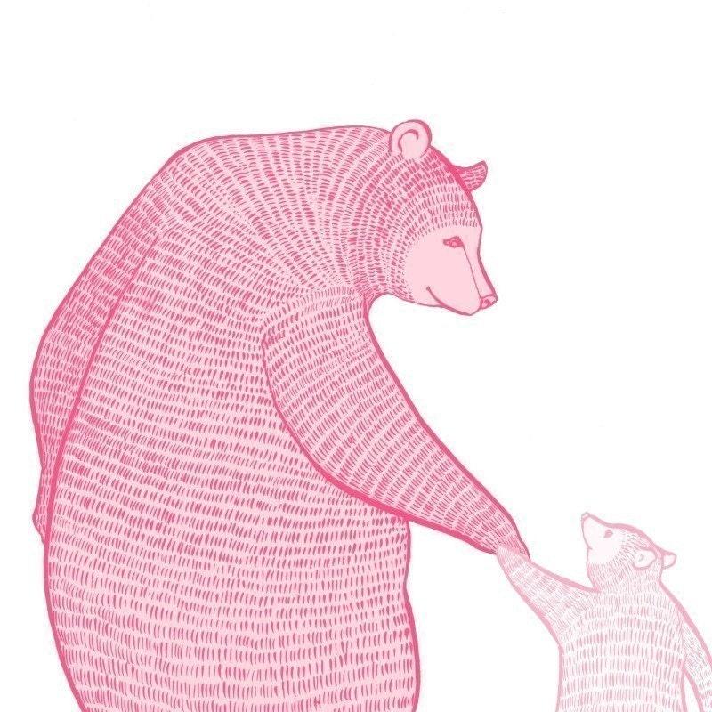 large limited edition print magic blossom bears by zukzuk