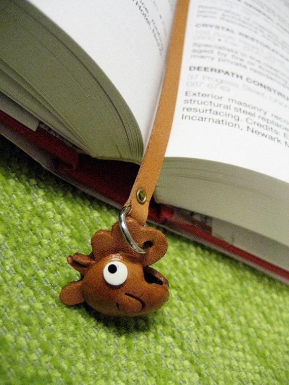 ROOSTER Zodiac 3D Leather Mini Animal Bookmark VANCA Petit Mascot Japanese