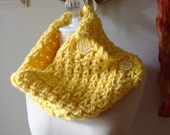 Cowl Neckwarmer / Sunny Yellow / Hand Knit / Phydeaux Twist VEGAN